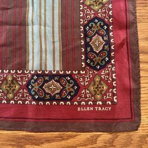 Ellen Tracy • Vintage Silk Boho Paisley Scarf
